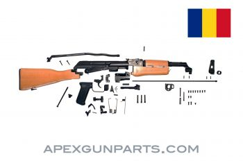 Romanian PM md. 63W Parts Kit, Fixed Wood Stock, Blued, 7.62x39, *NEW*