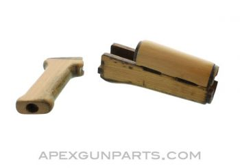 Hungarian AK63d / AKM Wood Handguard Set w/Pistol Grip, *Good*
