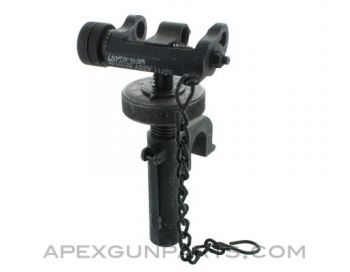 T&E Mechanism, Fits M3 Tripod & M2 .50 Browning, No Pin or Lock Lever, *Good to Very Good*, Sold *As Is*