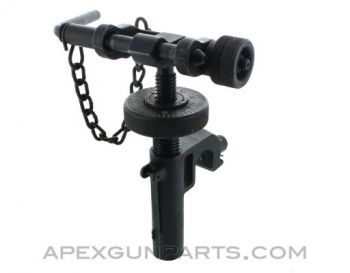 T&E Mechanism, Fits M3 Tripod & M2 .50 Browning, Complete with Long Pin, *Good to Very Good*