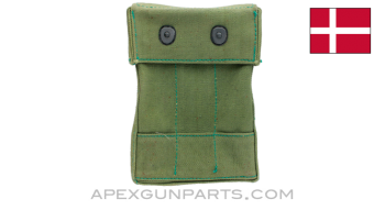 Madsen M-50 Mag Pouch w/ Black Buttons, Canvas *Very Good*