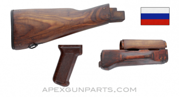 Russian AKM Wood Stock Set, With Tula Pistol Grip, *Very Good*