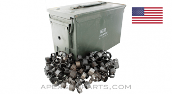 100 .50 Cal. M9 Links in USGI M2A1 Steel Ammo Can, *Good*