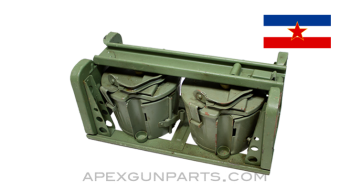 MG 42 / M53 / MG34 Basket Carrier with Belt Drums, JNA Green, *Very Good*