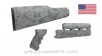 PAP M70 Rifle Stock Set, Snakeskin Pattern, U.S. Made, Nylon, *Excellent*