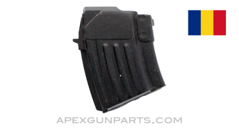 AK-47 Magazine, 5rd Steel Double Stack, Romanian, Blued, 7.62X39, *Very Good*