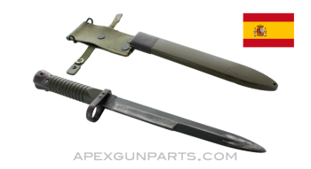 CETME Model L Bayonet with Scabbard, *Good*