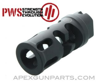 PWS FSC47 Mod 2 Flash Suppressing Compensator for AK-47, 14x1 LH Threaded, .308, US Made, *NEW*