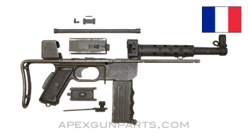 "French MAT-49 Parts Kit, 9"" Barrel, Collapsible Stock, With Grip Safety, 9mm, Model 1, *Good*"