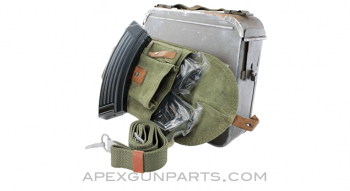 AK-47 Support Pack! (1) SG43 Ammo Can, (1) Polish Pouch, (1) Polish AK Sling, (3) Croatian AK-47 Magazines, 30rd, 7.62x39