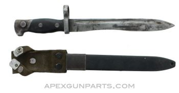 CETME Model C Bayonet and Scabbard, Type 2, *Fair to Good*
