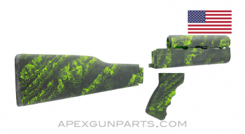 PAP M70 Rifle Stock Set, Zombie Pattern, U.S. Made, Nylon,  *Excellent*