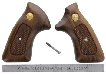 Taurus Revolver Wood Grips, Medium Frame, Checkered, *NOS*