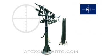MG 42 / M53 / MG3 / MAG58 Anti-Aircraft Pedestal Mount, Zwillingssockellafette S14 fur 2 MG Kal 7.62mm, *Good*