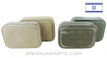 Israeli IDF Army Small Arms Cleaning Kit Box, Steel, Color Selection *Good*