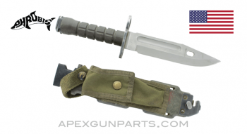 M9 Phrobis III Bayonet and Scabbard for M16A2 Rifle, *Very Good*