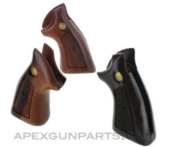 Taurus Revolver Wood Grips, Large Frame, Square Butt, Checkered, *NOS*