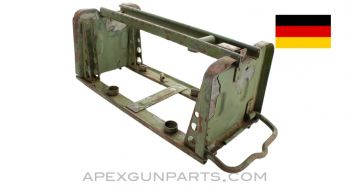 German WWII MG 34 / MG 42 Basket Carrier for Drums, Waffen Marked, *Fair*, Sold *As Is*