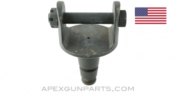 Pintle, For M2 & M3 Tripod, with Bolt, Fits .30 & .50 Cal. Guns, 2 Ring, Tapered Plate, *Very Good*