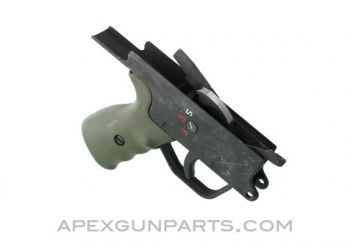 H&K G3 Trigger Assembly, Select Fire, Steel, Complete, Green Grip, *Used*