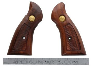 Taurus Revolver Wood Grips, .22 Frame, Square Butt, Checkered, *NOS*