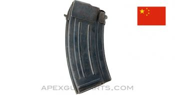 Chinese Type 63 / 68 AK-47 Magazine, 20rd Blued Steel, 7.62x39, *Very Good*