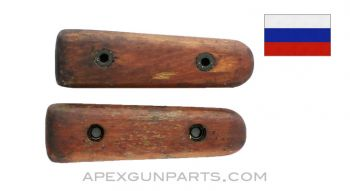 Goryunov SG-43 Carry Handle Grip Halves, Left and Right, Wood, *Good*