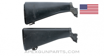 Colt M16 Solid Body Buttstock Assembly, Type D 1964-1969, w/Late Buffer Tube & Recvr Piece, Sold *As Is*