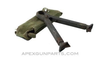 CETME Models B, C & L Bipod with Belt Pouch, Adjustable legs, Sold *As Is*