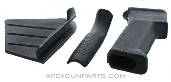 Featureless AK Pistol Grip w/Changeable Fin & Backstrap, CA Compliant, *NEW*