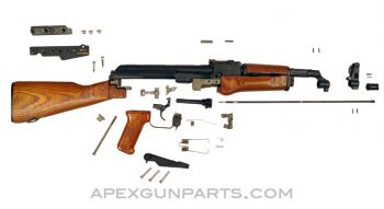 Polish AKML Parts Kit with Night Vision Mounting Rail, 1980's dated, 7.62X39, Matching, *Very Good*