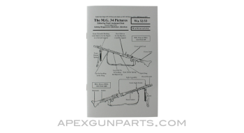 MG 34 Weapons Table Manual, Waffentafeln, Translation From Original, Paperback, *NEW*