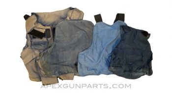 Vest / Carrier for Body Armor, Soft Shell ONLY, Set of 4, NO ARMOR included, *Well Used*, Sold *As Is*