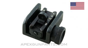 M1/M2 Carbine Rear Sight Assembly, Milled *Very Good*