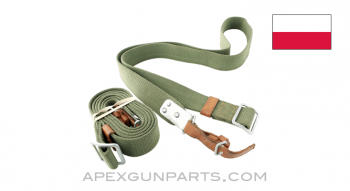 Polish AK-47 Nylon Sling with Leather Tabs, *Good*