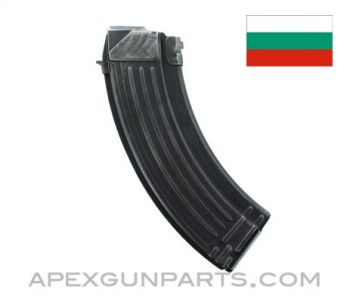 AK-47 Magazine, 30rd, Blued Steel, 7.62x39, Bulgarian, *Good*