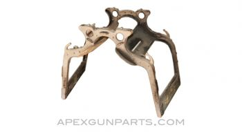 Military Pack Saddle Frame, Metal & Wood, for Heavy Equipment *Good*