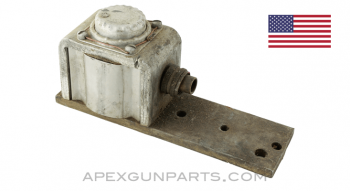 Browning M3 .50 Cal. 12v Electric Trigger Control Solenoid, Side Mount with Mounting Plate, *Good*