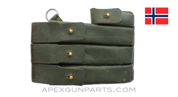 MP 38 / 40 Magazine Pouch, Green Leather, Left Side, *Very Good*