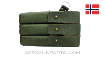 MP 38/ 40 Magazine Pouch, Green Leather, Right Side, *Very Good*