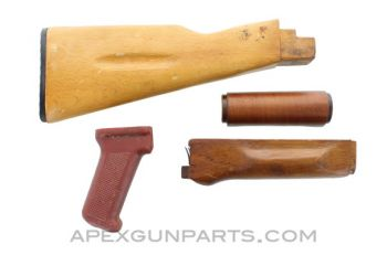 Bulgarian AK-74 Stock Set, Wooden, *Good*