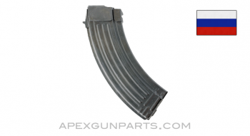 Russian AK-47 Magazine, 30rd, Spine Stamped Izhevsk, Refinished, 7.62x39, *Good*