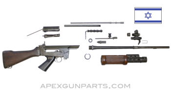"Israeli FAL Light Rifle Parts Kit With FN 21"" Barrel, Type A Lower, 7.62X51 NATO, *Good*"