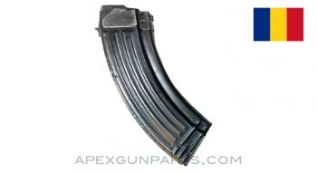 AK-47 Magazine, 30rd, Blued Steel, 7.62x39, Romanian, *Good*