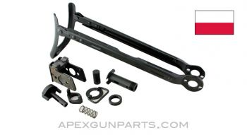 Polish AKMS Underfolder Stock Kit with Rear Trunnion, No Small Pins, *Excellent*