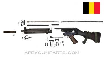 BGS FAL Parts Kit with Type B Wood Stock, Non-Matching, Belgian, 7.62X51, *Good*