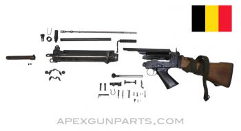 BGS FAL Parts Kit with Type C Wood Stock, Matching, Belgian 7.62X51, *Good*