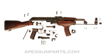 Romanian M63 AKM Parts Set w/Wood Stock, 7.62X39, *Good to Very Good*