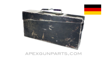 German MG Ammo Can, WWII, Lightweight Aluminium, *Fair*, Sold *As Is*