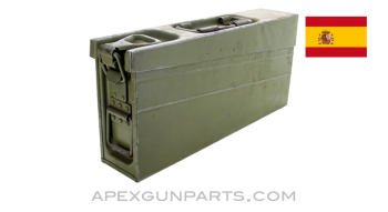 Spanish MG3 Ammo Can, Green w/Carry Handle, 7.62 NATO, *Good*